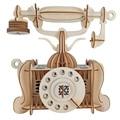 Старомодная игрушка для телефона «сделай сам»  3D Деревянный конструктор для взрослых  детей  детей  хобби  boss estetica maquina modelarstwo