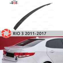 Спойлер Для Киа Рио 3 2011-2017 пластик АБС украшения багажника двери аксессуары Защитная оклейка автомобилей Молдинг