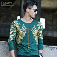 2017 Latest Release Casual Fashion Men Shirt Rock Style Men S Autumn Clothing Tops Male T