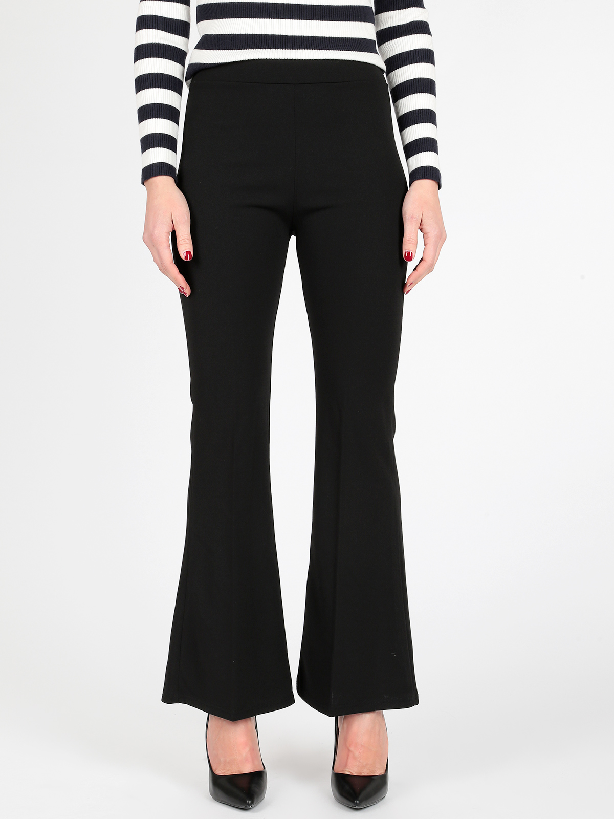 Casual Working Cloth Trousers Flare Slim Trousers