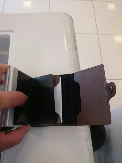 Anti Rfid Protection Men Women id Credit Card Holder Wallet Leather Aluminum Business Bank Card Case CreditCard Pocket Ukraine photo review