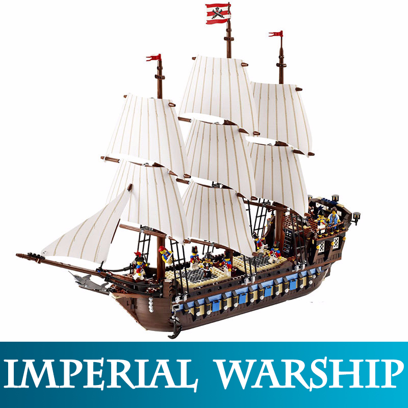 22001 1717pcs Pirate Ship Imperial Warships Model Building Kits Block Brick Compatible 10210 LegoINGlys Blocks Toys For Children