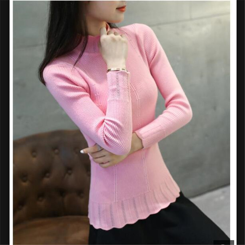 Knitted Pullover Sweater Female Turtleneck Long-Sleeve Women Autumn/winter For K3999