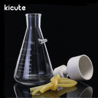 Kicute 1 Set 1000ml Vacuum Suction Filtration Device Buchner Funnel Borosilicate Glass Funnel Flask School Laboratory