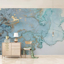 Luxury blue gilding texture TV background wall professional production murals wholesale wallpaper mural poster photo