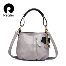 REALER women genuine leather handbag small bag