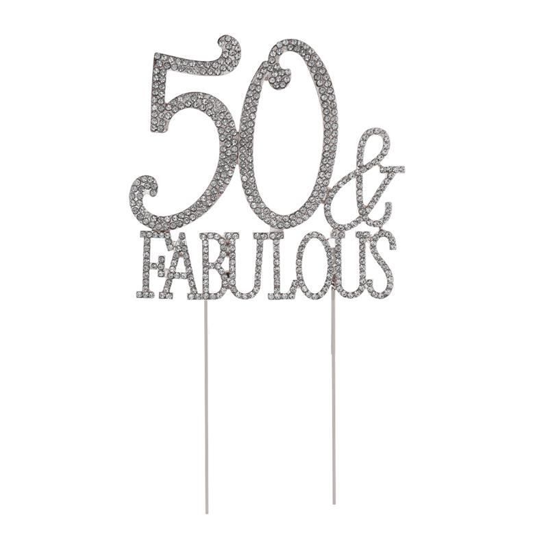 Fabulous 50 Cake Topper: 50 Fabulous Cake Topper For 50th Birthday Party Or