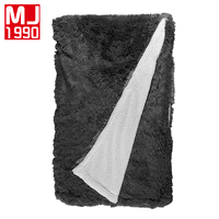 New European Lamb Velvet Mink Blanket Home/Travel For Adults Bedding Solid Color Simple Winter Yarn Dyed Knitted Thread Blankets