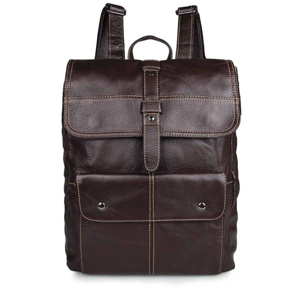 Brown Cow Leather Anti Theft Backpack Men Business Brand Fashion 15inch Laptop Backpacks Fashion Travel School Bags Bagpack hot high quality usb charge anti theft backpack men 15inch laptop backpacks fashion travel school bags bagpack sac a dos mochila