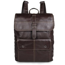 Brown Cow Leather Anti Theft Backpack Men Business Brand Fashion  15inch Laptop Backpacks Fashion Travel School Bags Bagpack original fashion classic business backpack men genuine leather bag backpacks large capacity students business bags 15inch laptop