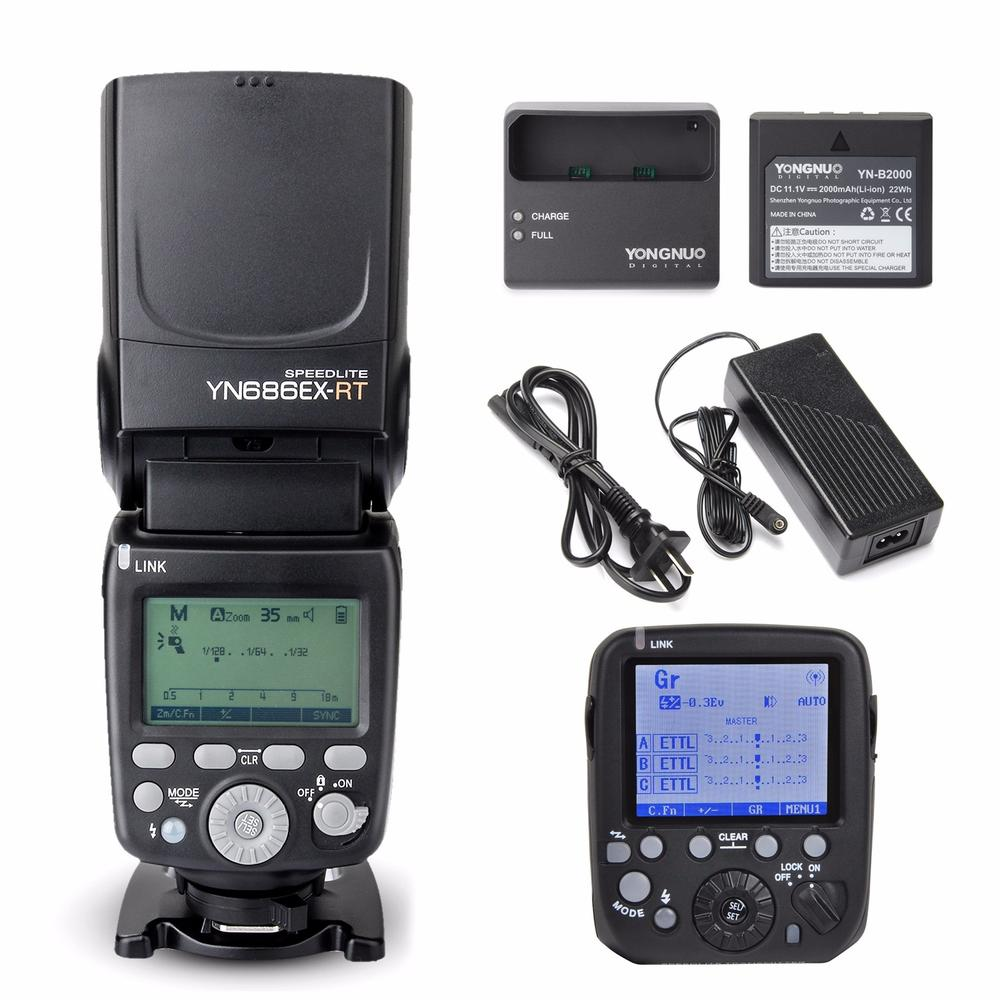 YONGNUO YN686EX-RT Lithium Battery Wireless Speedlite  1/8000s Flash + YN-E3-RT flash Speedlite Wireless Transmitter For Canon yongnuo 3x yn 600ex rt ii 2 4g wireless hss 1 8000s master flash speedlite yn e3 rt flash trigger for canon eos camera 5d 6d