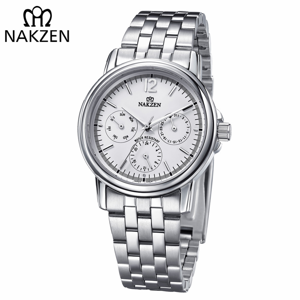 NAKZEN Men Edifice Watch Famous Top Brand Luxury Wrist Stainless Steel Watch Business Male Wrist Watch Relogio Masculino Gift летние шины kormoran 225 45 zr17 94y ultra high performance