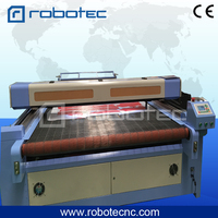 ROBOTEC fabric machine auto feeding laser cutting machine for fabric leather, textile, garment/laser cutter machine