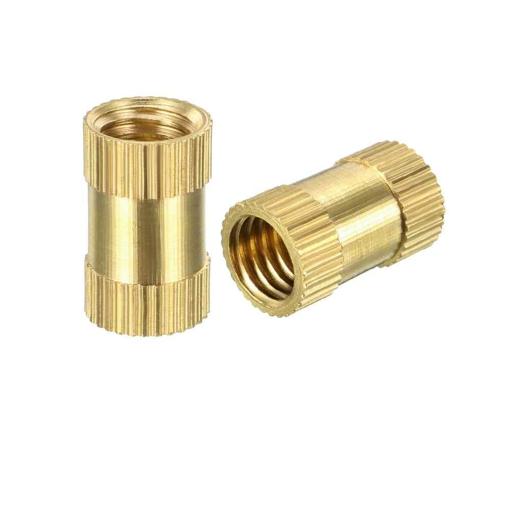 10pcs Nologo Self-tapping Screws Furniture Nuts Metric Threaded Wood Inlaid Nuts Dimensioni : M8X30mm