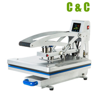38x38cm 15x15inch Touch Screen Auto Open Optional Working Table Custom T shirt Heat Press Sublimation Printing Machine NO.CH1702