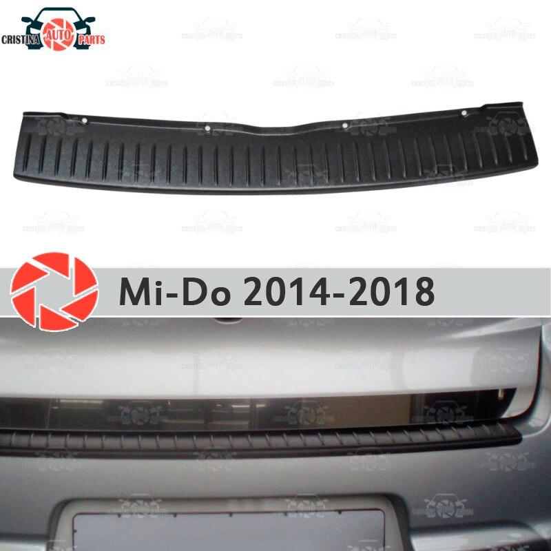 Placa de tampa traseira bumper para Datsun Mi-Fazer 2014-2018 placa de proteção guarda styling acessórios de decoração do carro de moldagem