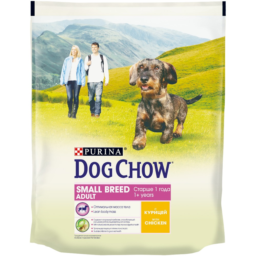 Dog Chow dry food for adult dogs of small breeds over 1 year old, with chicken, 6.4 kg.