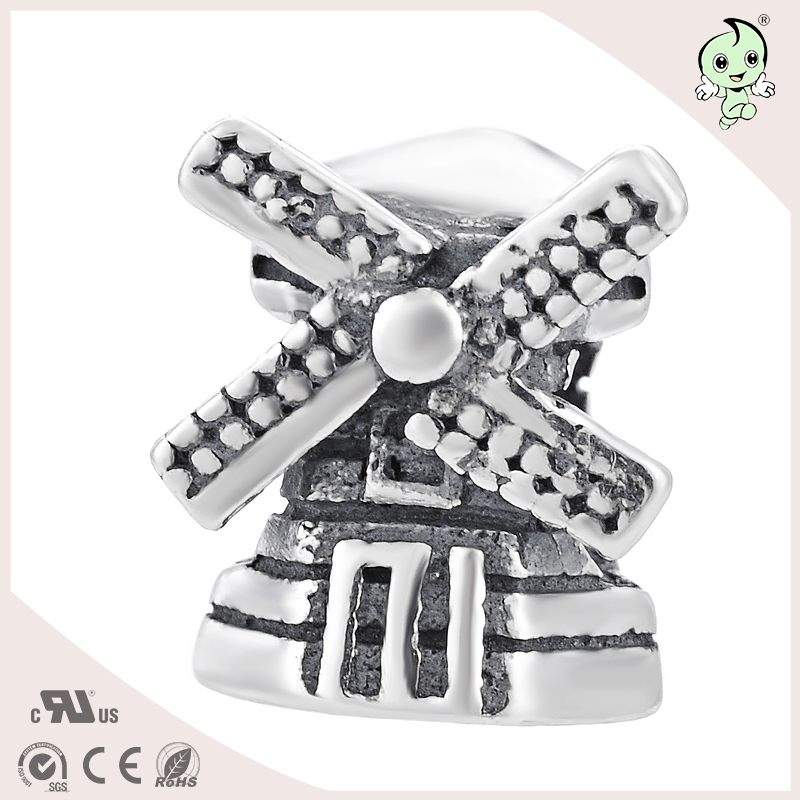 DIY windmill jewelry type S925 Sterling Silver beads or charm for bracelts ...