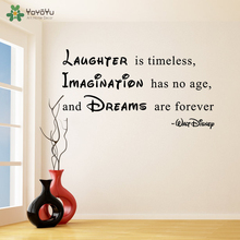 Wall Decal Vinyl Sticker Quote Laughter Imagination Dreams Gift For Kids Room Decoration House Mural Poster Art Design WW-409