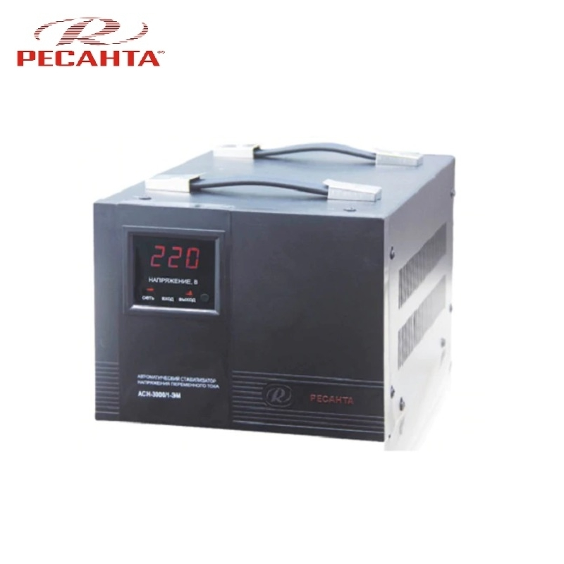 Single phase voltage stabilizer RESANTA ASN 3000/1 EM Voltage regulator Monophase Mains stabilizer Surge protect Power stab single phase voltage stabilizer resanta asn 500 1 em voltage regulator monophase mains stabilizer surge protect power stab