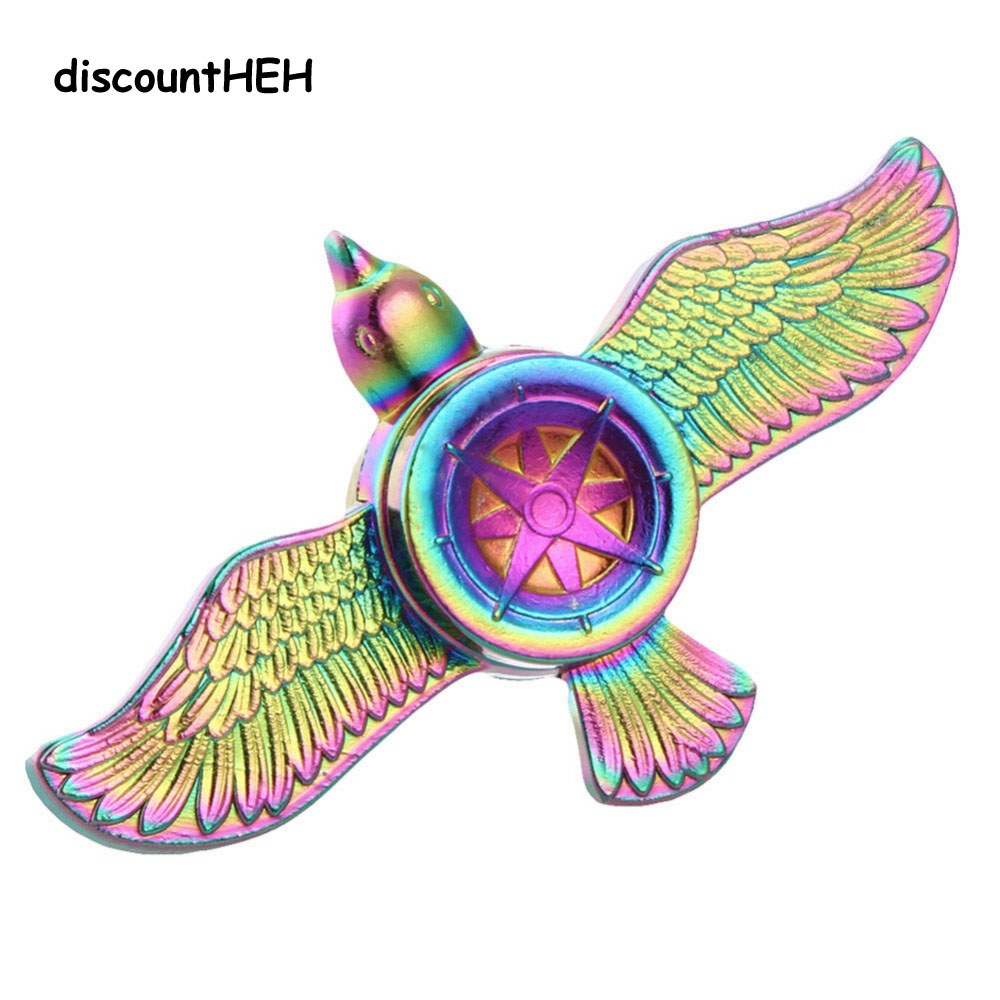 Metal Finger Spinner TOY2074 Hand For Autism Spinners Adult Anti Relieve Stress  Toy Spiner Rainbow