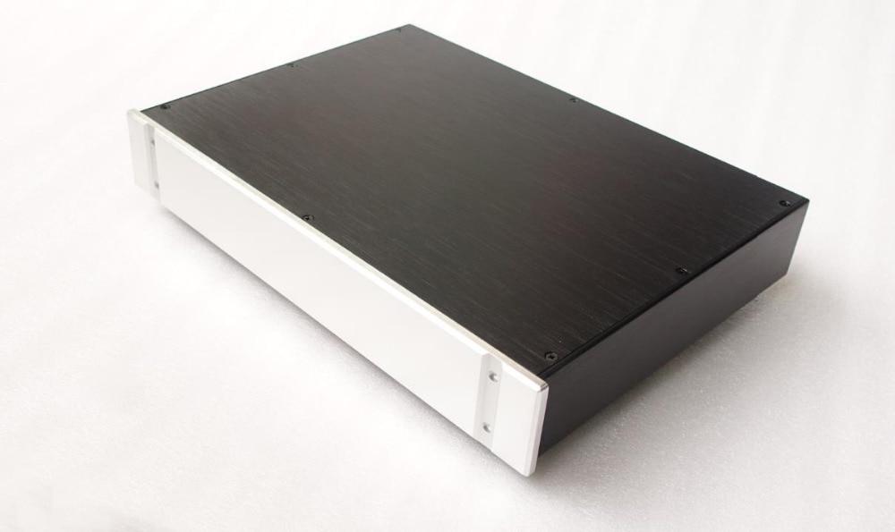 BZ4307B All Aluminum Audio DAC Decoder Chassis Preamplifier Housing HiFi Amplifier Enclosure DIY Case Box 430MM*70MM*308MM gaowen g all aluminum enclosure preamplifier chassis diy pre amp case amplifier box 430mm 70mm 308mm