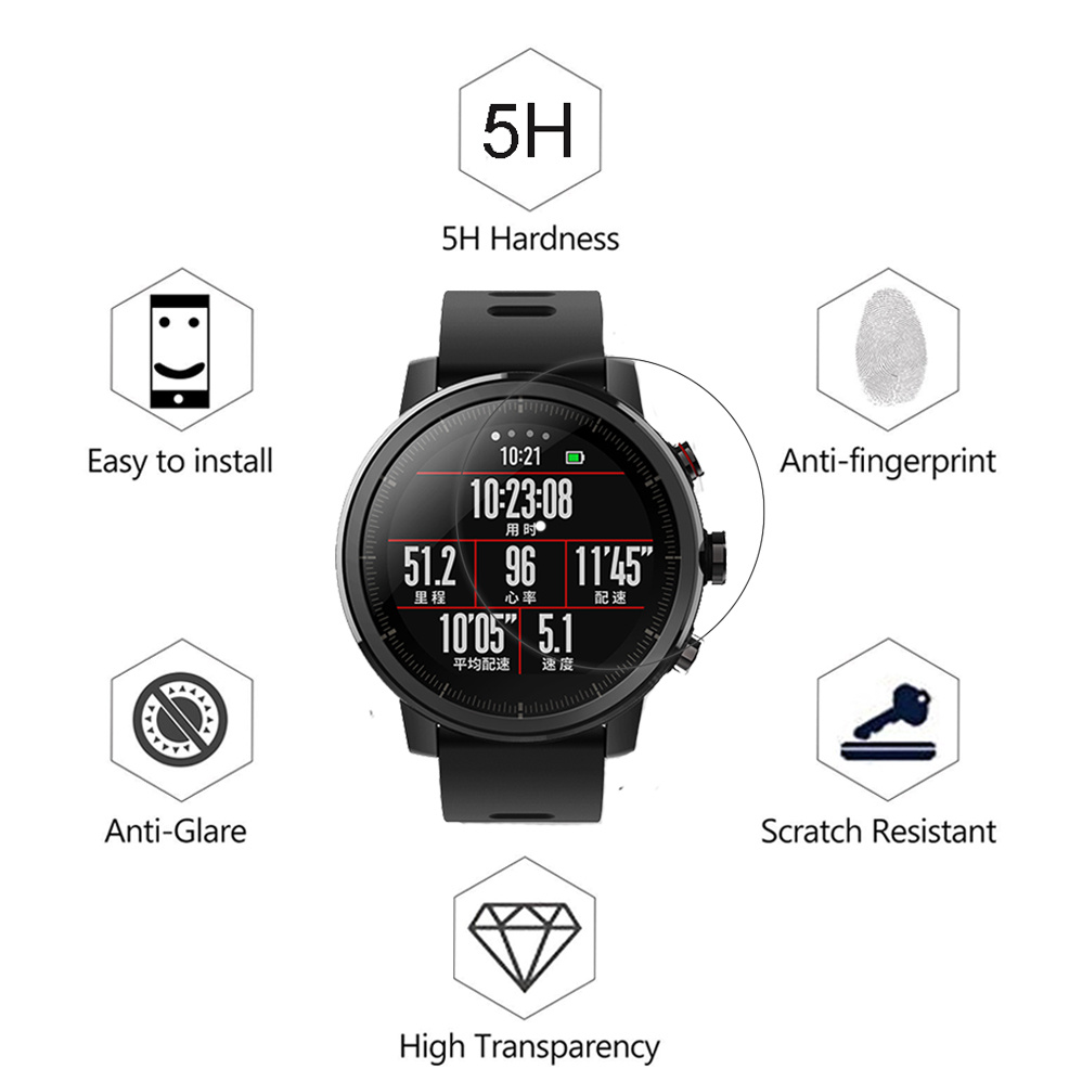 Image 4 - 5pcs Soft TPU Full Screen Protector For Xiaomi Huami Amazfit Stratos 2 2S Pace GTR 47mm 42mm Sport Smart Watch Guard Film Cover-in Smart Accessories from Consumer Electronics