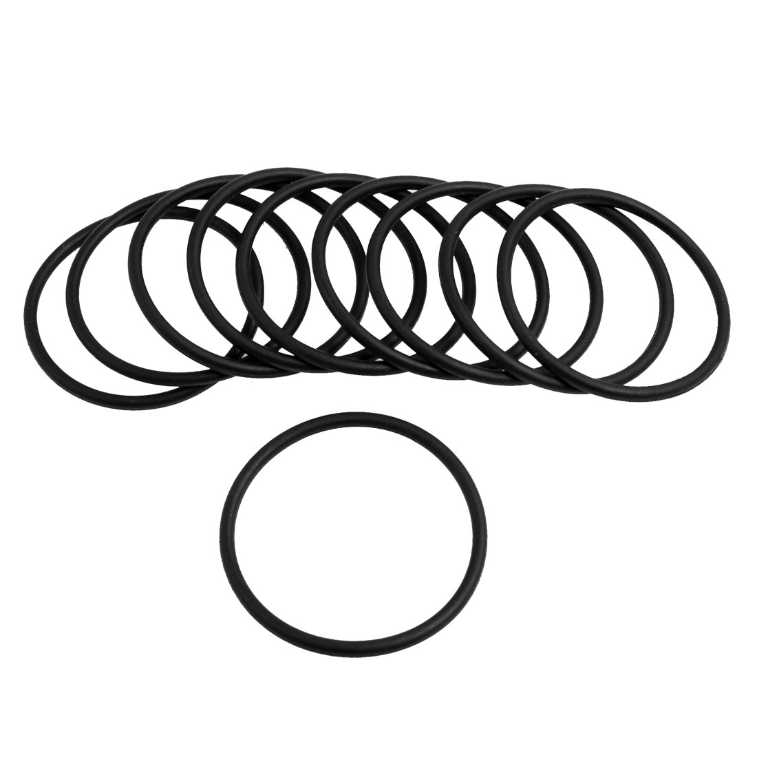 UXCELL 10 Pcs Black Rubber 40Mm X 2.5Mm Oil Seal O Rings Gaskets Washers