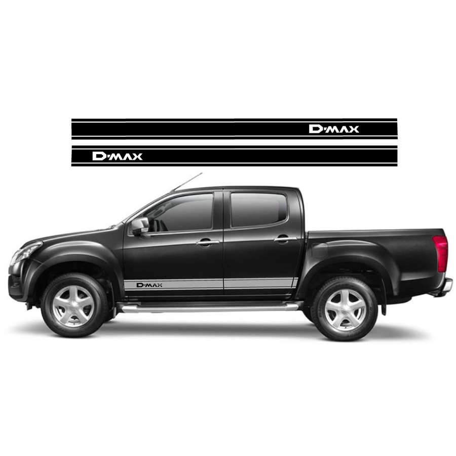 free shipping 2 PC racing Gradient side stripe graphic Vinyl sticker for dmax pickup decal футболка wearcraft premium slim fit printio born in ussr