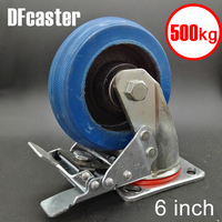 Rubbr 500kg Heavy Load 6 Inch Casters 360 Degree Caster With Brake Carrying Wheel Universal Castor