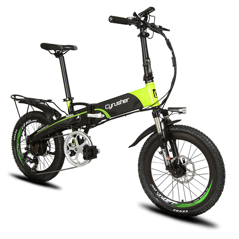 Cyrusher XF500 Folding Electric Bike 48V 250W for Men and Women 20 Inch Electric assisted Road Bicycle Beach ebike 7 Speeds