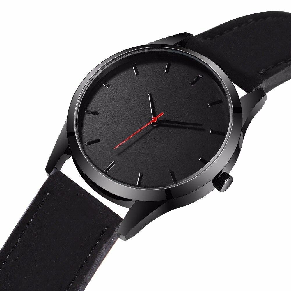 2018 große Zifferblatt Uhren Für Männer Stunde Herren Uhren Top Brand Luxus Quarzuhr Mann Leder Sport Armbanduhr Uhr relogio saat