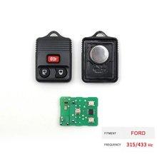 Dzanken 3 Buttons Remote Car Key 315/433MHz for Ford Fiesta focus fusion Ka Mondeo Puma tr& Transponder Chip & Uncut Blade