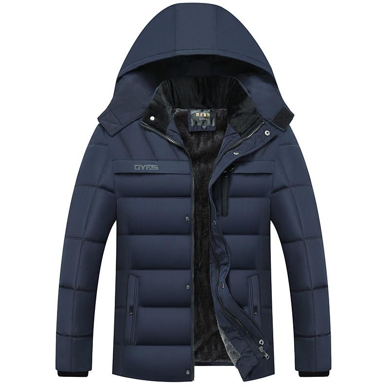 2018 Heißer Mode Mit Kapuze Winter Mantel Männer Dicke Warme Herren Winter Jacke Parka 100% Original