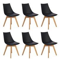 EGGREE 6 шт. кухонные стулья, обеденный стул, зеркальная рама с ногами, Офисная комната из массива бука и металлическая рама