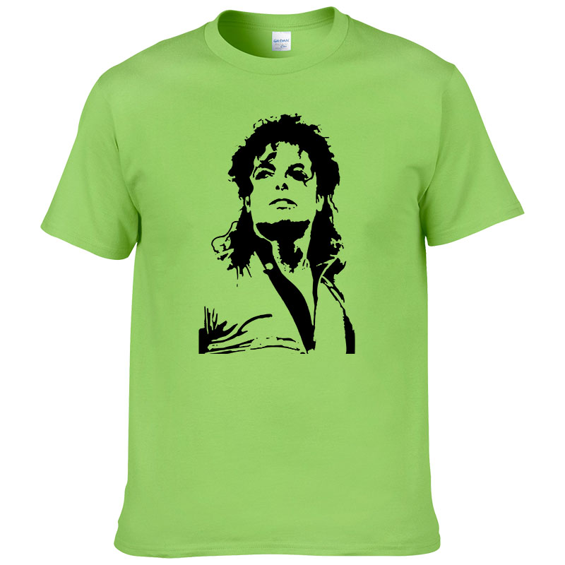 Summer Michael Jackson   T     Shirt   Men Hip Hop Cotton Printed Short Sleeve O Neck   T  -  shirt   Tees #228