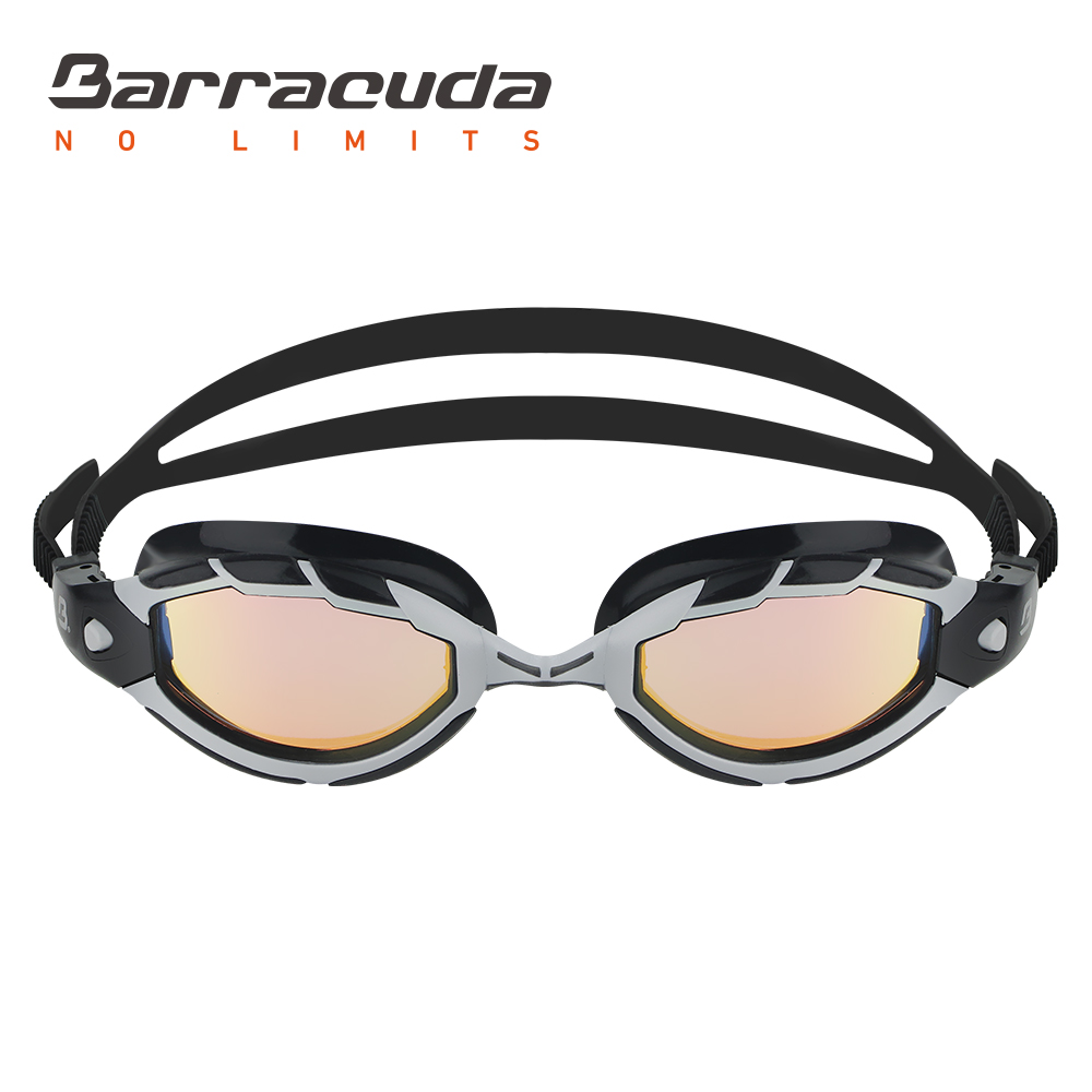Barracuda Swimming Goggles TRITON MIRROR Wire Frame Technology Curved Mirror Lenses Anti-fog Triathlon For Adults#33910