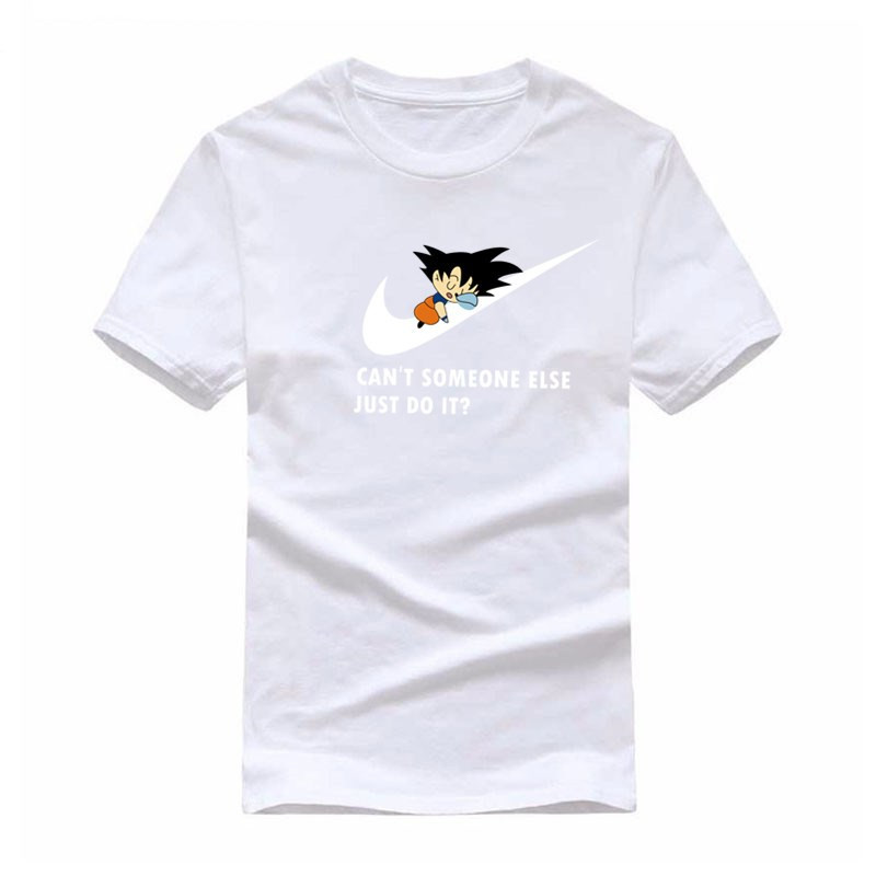 JUST DO IT New Summer Anime Dragonball T-Shirt The Boy Skate Tshirt Tops Printed T Shirt Men Short Sleeve Tee Shirt Homme