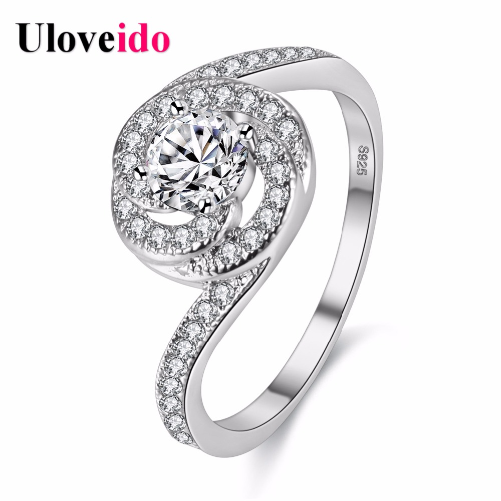 bague mariage female ring finger weddings ring brincos jewelry bague femme engagement crystal