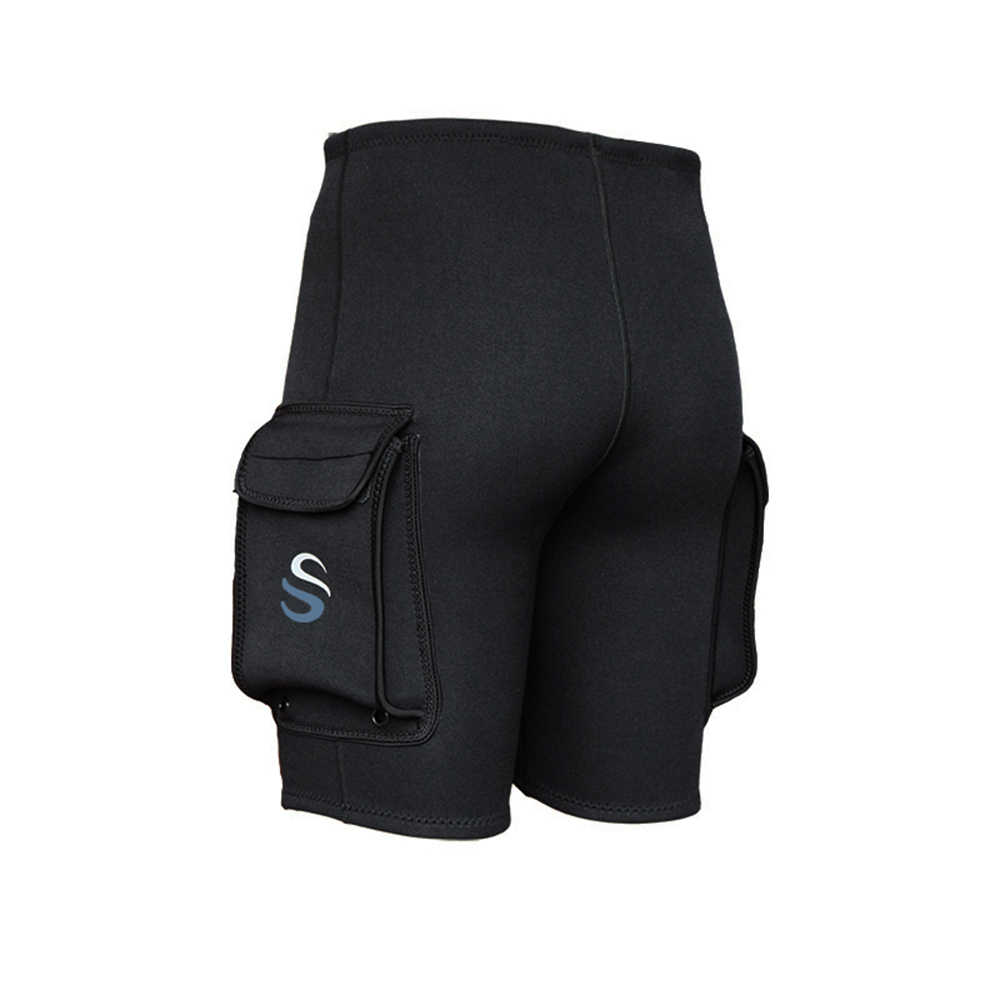 Slinx Pakaian Celana Pendek 3 Mm Menyelam Celana Neoprene Olahraga Mendayung Renang Snorkeling Surfing Kayak Celana dengan Kantong