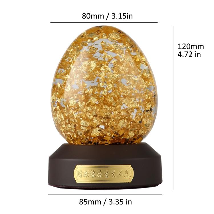 24 K Oro Fiocchi di Forma di Uovo Globo di Neve Fortunato Uovo D'oro Con Scatola Regalo Arredamento Best Regalo Taiwan Fatto - 4
