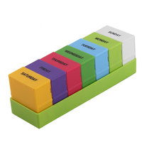 UXCELL Voyage En Plastique 28 Compartiments Médicaments Portable Rappel Quotidien Hebdomadaire Pill Box Case