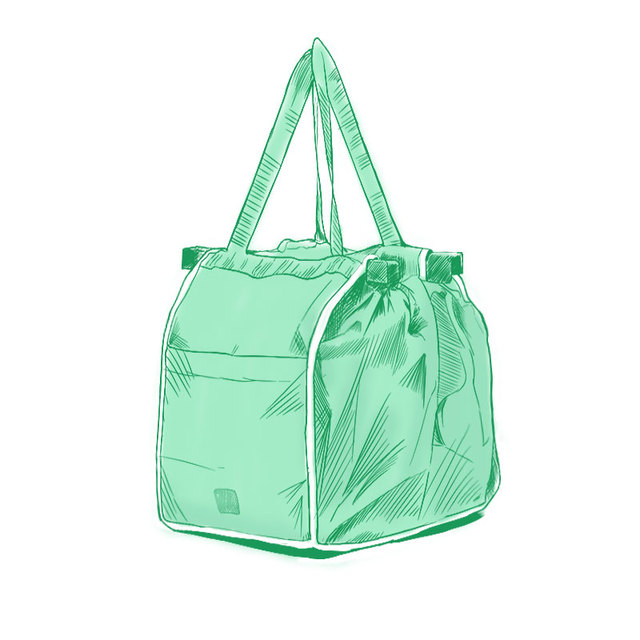 1d32537f9 Reusable Large Trolley Clip-To-Cart Grocery Shopping Bags Portable Green Cloth  Bag Foldable Tote Handbags