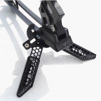 Archery Arrow Accessories Upgrade Compound Bow Stand Scissor Shape Kick Stand Holder Black Hunting Shooting Bow Stand