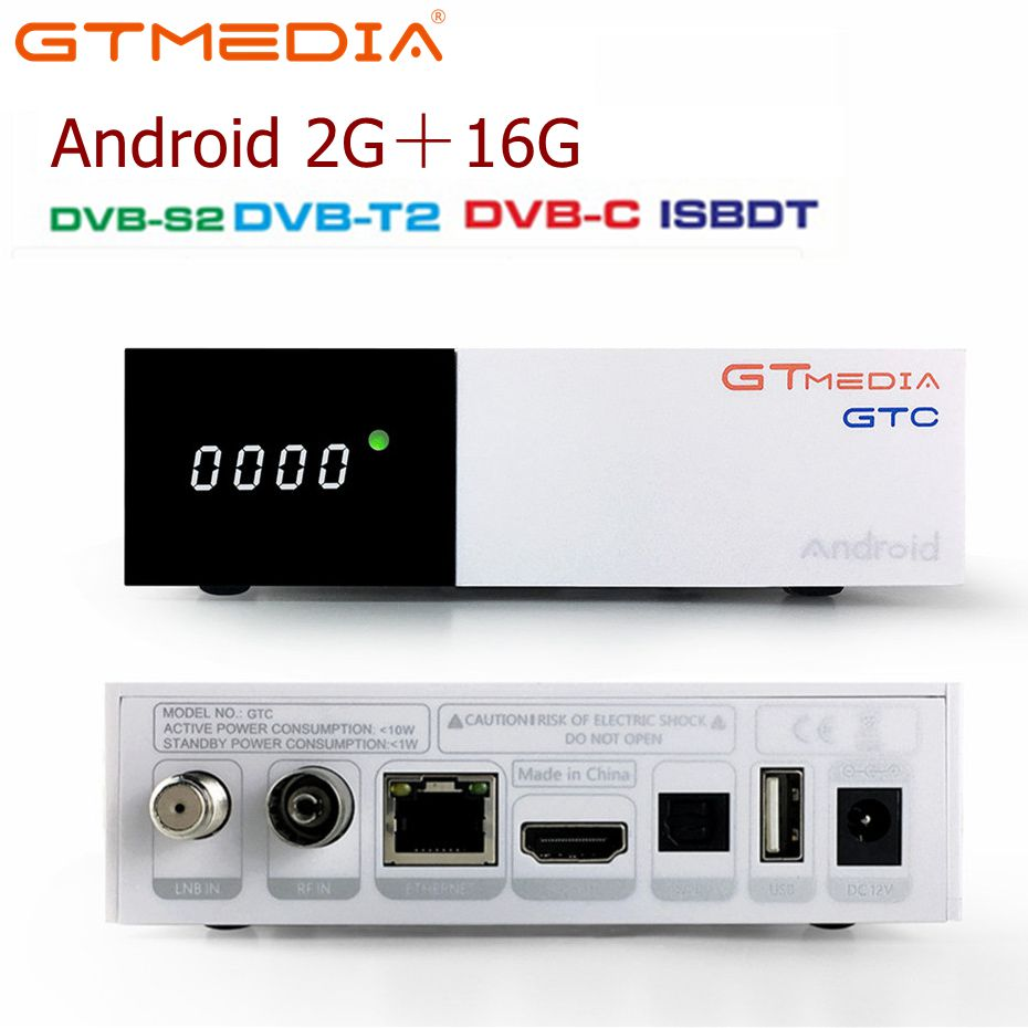 FREESAT GTMedia GTC Satellite TV Receiver DVB-S2/C/T2/ISDB-T Android 6.0 Smart TV Box Amlogic S905D 2GB 16GB BT4.0 H.265 DecoderFREESAT GTMedia GTC Satellite TV Receiver DVB-S2/C/T2/ISDB-T Android 6.0 Smart TV Box Amlogic S905D 2GB 16GB BT4.0 H.265 Decoder