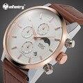 MDC мужские s часы лучший бренд класса люкс Daytona часы из розового золота Мужские часы с хронографом коричневые кожаные часы для мужчин ретро ...