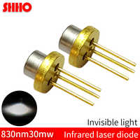 High quality laser semiconductor TO18/diameter 5.6mm 830nm 30mw infrared laser diode IR sensor accessories invisible light tube
