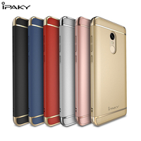 IPAKY 3 In 1 Electroplating PC Hard Case For Xiaomi Redmi Note 4
