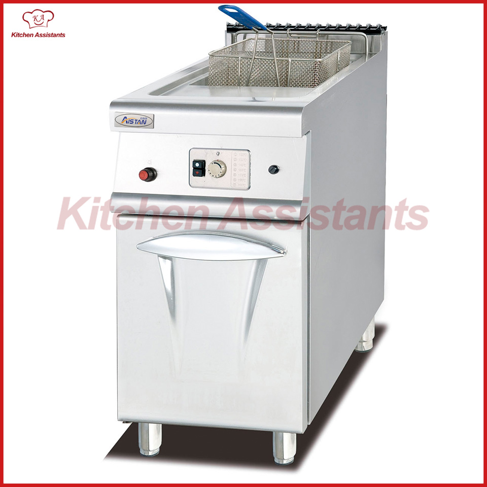 GH775 Gas Fryer with Cabinet with 1 Tank 1 Baskets df33a luxury electric computer fryer with 1 tank 2 baskets with oil filter cart