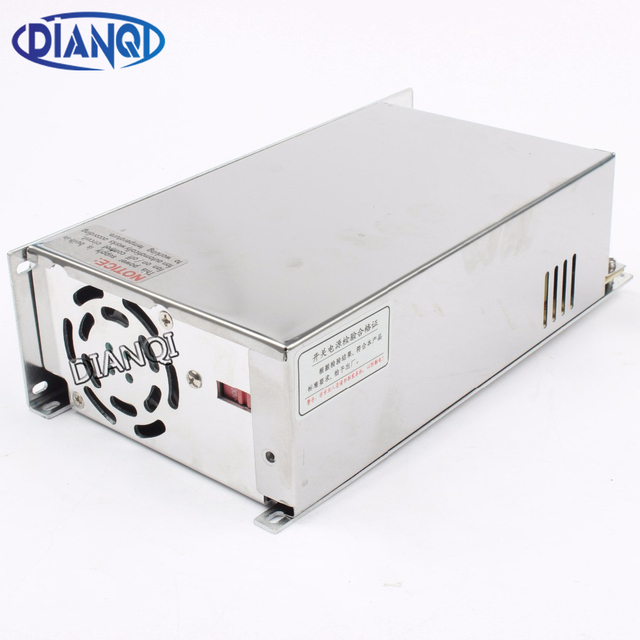 DIANQI led power supply switch 600W  12v  50A ac dc converter  Input 220v S-600w  12v switching power supply 50A S-600-12